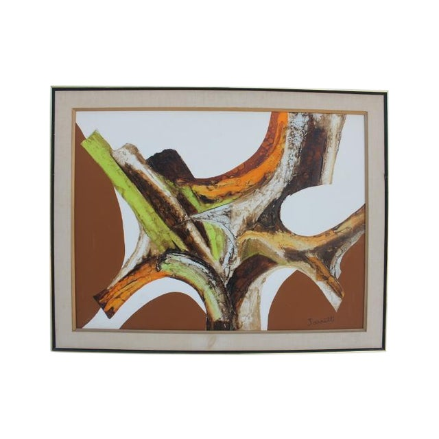 A- Large Vintage Expressionist Abstract Painting - Image 1 of 11