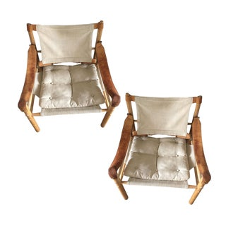 Arne Norell Safari Lounge Chairs - A Pair