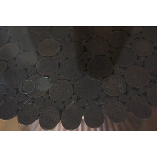 Midcentury Rattan Sheaf Glass Top Coffee Table - Image 4 of 4