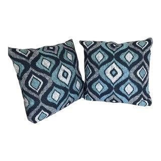Custom Blue Pillows - A Pair