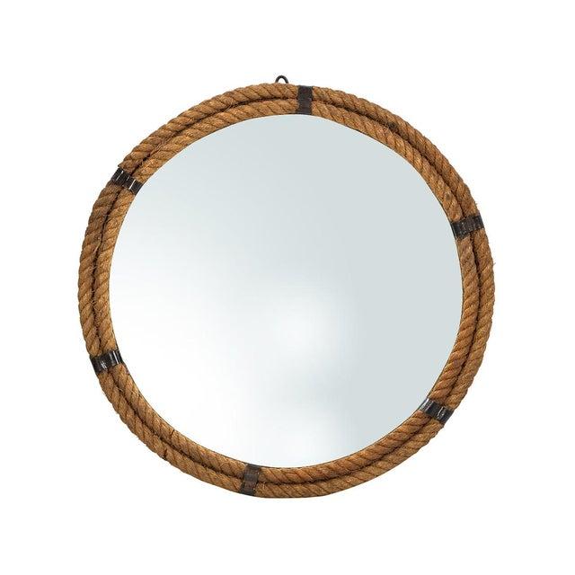 nautical rope round mirror chairish. Black Bedroom Furniture Sets. Home Design Ideas