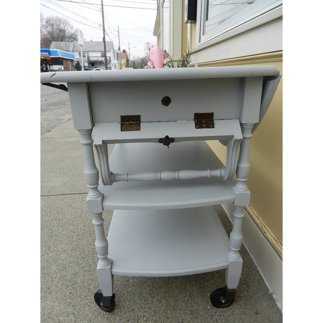 vintage white shabby chic bar or tea cart chairish
