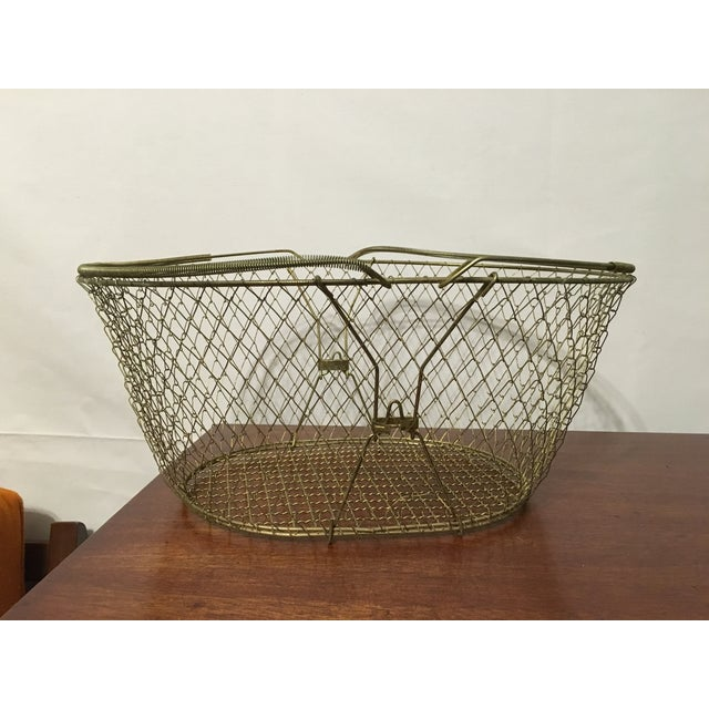 Wire basket with glass fishing floats chairish for Fish wire basket