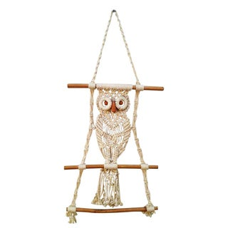 70's Macrame Wall Owl