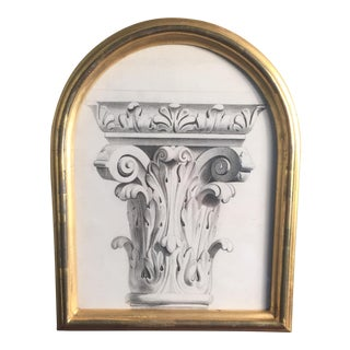 Framed Capital Charcoal Drawing