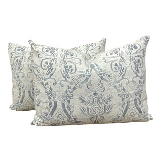 Venetian Vintage Fortuny Custom Pillows - A Pair