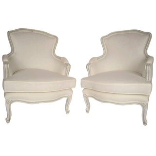 French Louis XV Style Bergeres - Pair