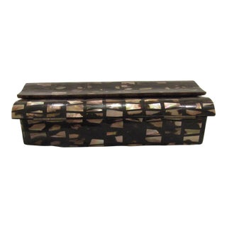 R & Y Augousti Mother of Pearl Flap Top Box