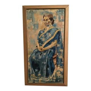Original Carol Burns Mid-Century Impressionist Oil Painting - 1962