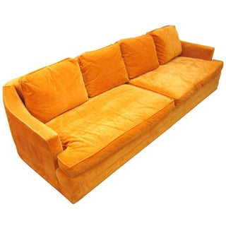 Cal-Mode Mid-Century Four-Seat Tangerine Sofa