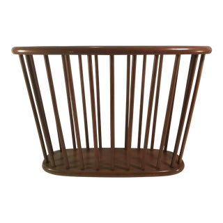 Danish Modern Teak Spindle Magazine Rack