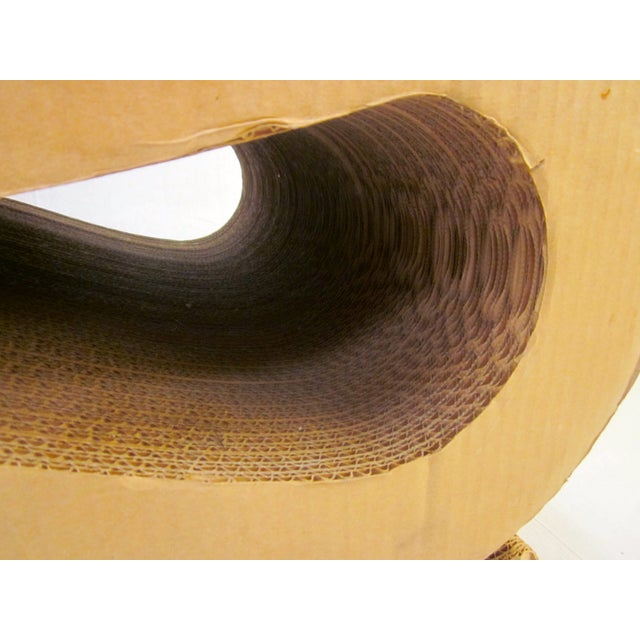 Gehry Inspired Cardboard Wiggle Chair - Image 3 of 10