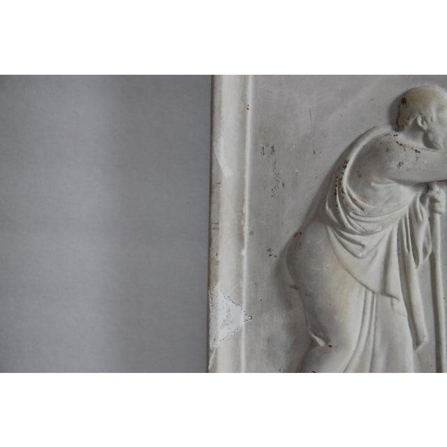Neoclassical Plaster Relief Cherub Wall Art - Image 9 of 11