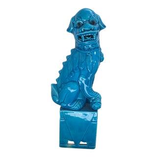 Turquoise Ceramic Foo Dog