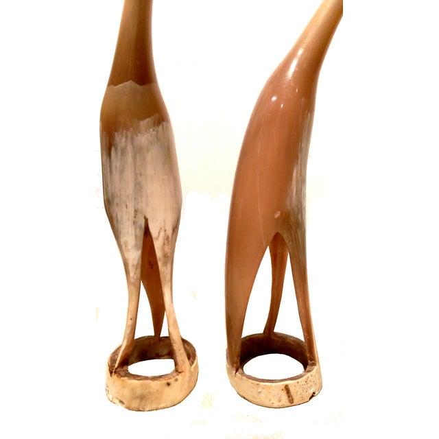 Carved Horn & Bone Bird Sculptures - Set of 4 - Image 3 of 7