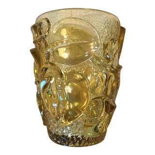 French Art Deco Amber Glass Vase