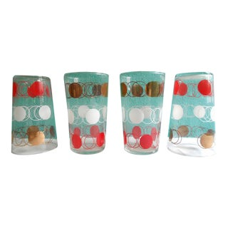 Vintage 1970's Polka Dot Glasses - Set of 8