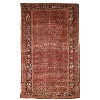 RugsinDallas Antique Hand Knotted Wool Persian Malayer Rug - 13′ × 28'