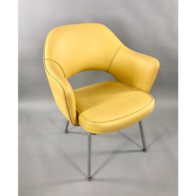 Original 1950's Vintage Eero Saarinen for Knoll Model 71 Executive Armchairs - a Pair - Image 7 of 11