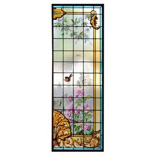 English Two-Panel Art Glass Window