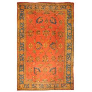 Antique Oversize Late 19th Century Turkish Oushak Carpet