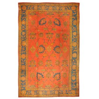 Antique Oversize Late 19th Century Turkish Oushak Carpet