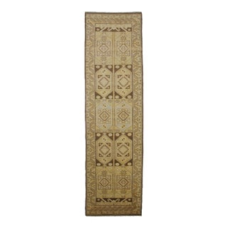 "Aara Rugs Inc. Hand Knotted Oushak Runner - 12'0"" X 3'3"""