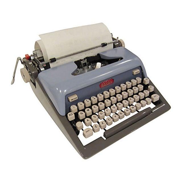 Mid-Century Blue Royal Futura 800 Typewriter - Image 4 of 7