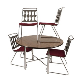 Chromcraft Smoked Lucite and Chrome Dinette