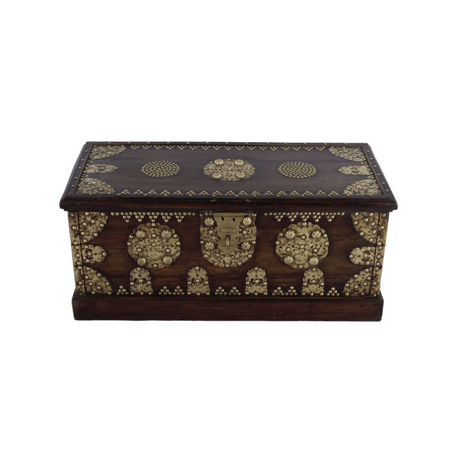 Royal Antique Style Treasure Trunk Coffee Table - Image 1 of 6