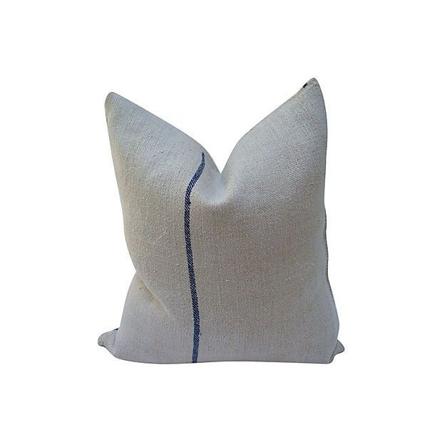 Striped Linen Feed Bag Pillows - Set of 3 - Image 3 of 5