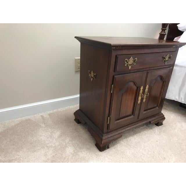 Hitchcock Wooden End Table / Nightstand - Image 3 of 3