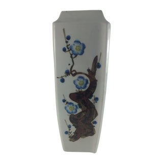 Blue Cherry Blossom Japanese Vase