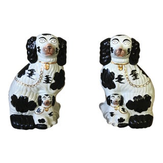 Vintage Staffordshire Dogs - A Pair