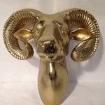 Image of Shiny Ram Head Wall Piece