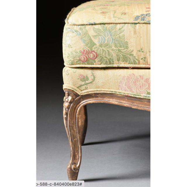 Louis XV Style Bergere & Footstool - Image 6 of 8