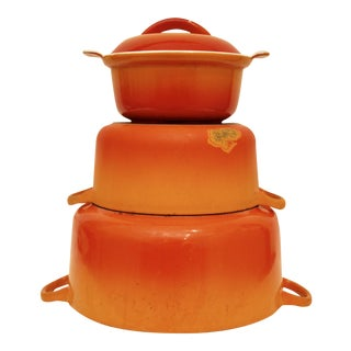 Le Creuset Orange Cast Iron - Set of 4