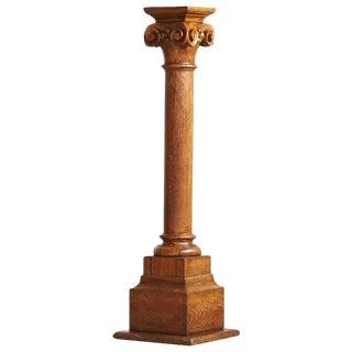 19th Century Oak Corinthian Style Column or Pedestal