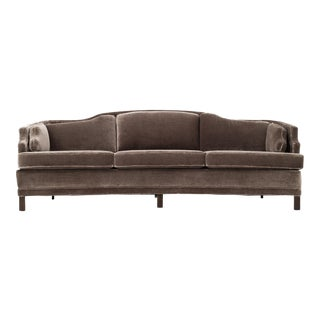 Curved Sofa in the Style of Michael Taylor