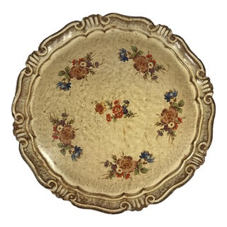 Vintage Italian Venetian Floral Tray
