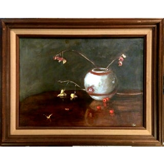 """Wilted Flowers"" Still Life Oil Painting"