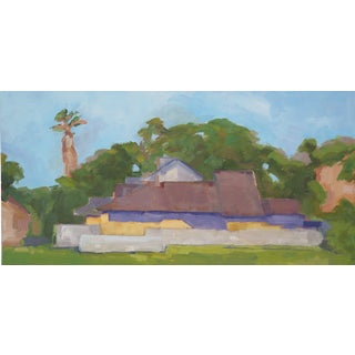 Yellow California Home Oil Painting