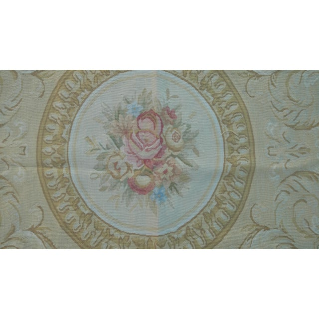 Antique French Aubusson Rug - 9′3″ × 10′3″ - Image 5 of 7