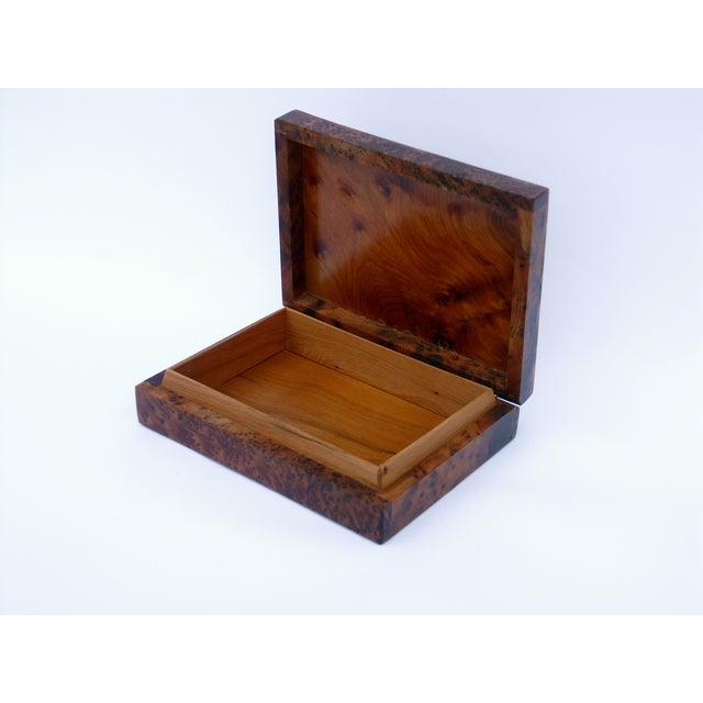 Decorative Juniper Burl Wood Box - Image 4 of 8