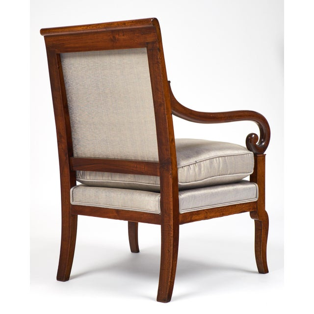 19th Century French Restauration Period Walnut Armchair - Image 7 of 11