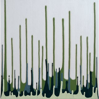 """Brushless #15"" Blue and Green Painting"
