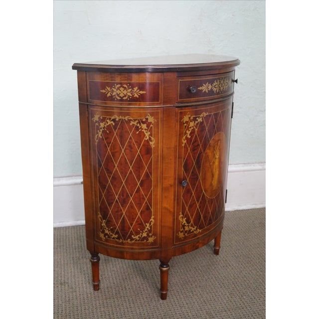 Image of 1940s Satinwood Paint Decorated Console Table