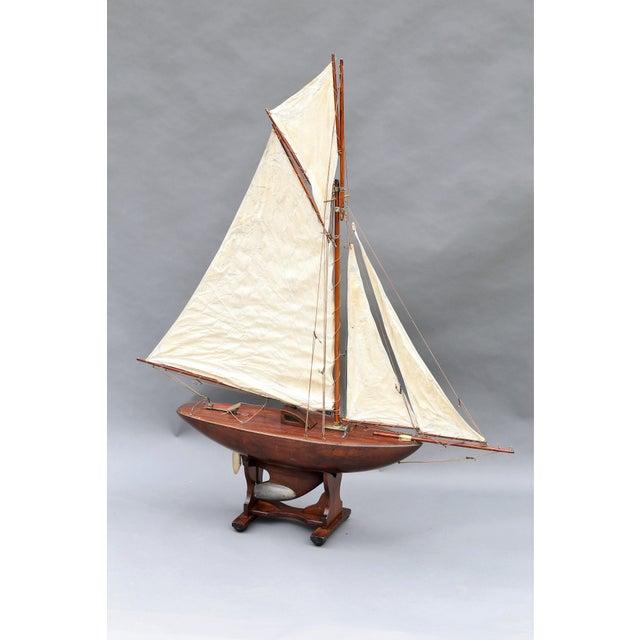 Image of Large Antique English Pond Yacht