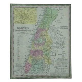 Palestine & Jerusalem Map by Cowperthwait, 1850