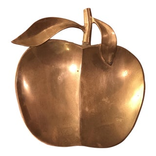 Vintage Brass Apple Tray